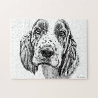ブリッタニースパニエル犬 ジグソーパズル