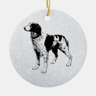 ブリッタニースパニエル犬 セラミックオーナメント