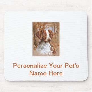 ブリッタニースパニエル犬 マウスパッド