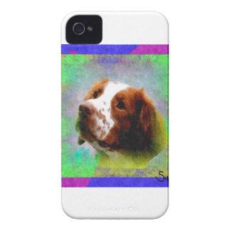 ブリッタニースパニエル犬 Case-Mate iPhone 4 ケース