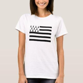 ブリッタニーブルターニュフランスの地域の旗 Tシャツ
