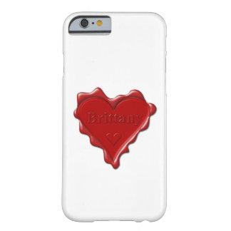 ブリッタニー。 一流のブリッタニーが付いている赤いハートのワックスのシール BARELY THERE iPhone 6 ケース
