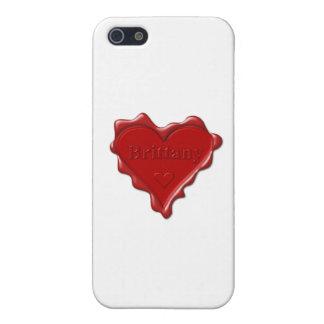 ブリッタニー。 一流のブリッタニーが付いている赤いハートのワックスのシール iPhone 5 ケース