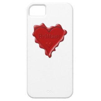 ブリッタニー。 一流のブリッタニーが付いている赤いハートのワックスのシール iPhone SE/5/5s ケース