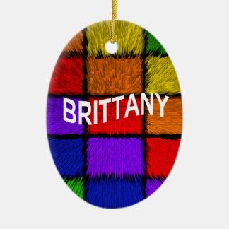 ブリッタニー(女性の名前) セラミックオーナメント