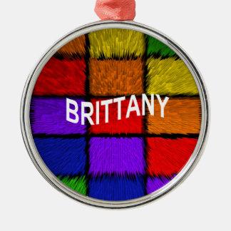 ブリッタニー(女性の名前) メタルオーナメント
