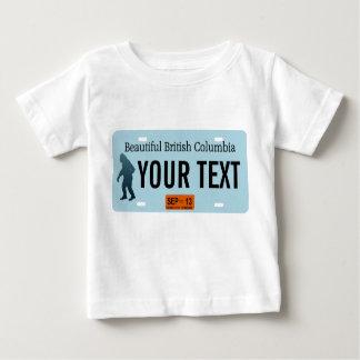 ブリティッシュ・コロンビアのサスカッチのナンバープレート ベビーTシャツ