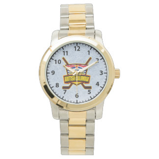 ブリティッシュ・コロンビアのホッケーのロゴの腕時計 腕時計