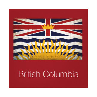 ブリティッシュ・コロンビアの動揺してな旗 キャンバスプリント