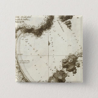 ブリティッシュ・コロンビアの本の地図 5.1CM 正方形バッジ