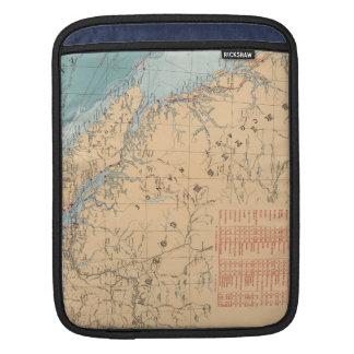 ブリティッシュ・コロンビアの灯台そして航行のルート iPadスリーブ