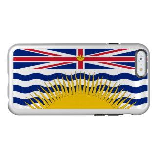 ブリティッシュ・コロンビアの銀製のiPhoneの場合の旗 Incipio Feather Shine iPhone 6ケース