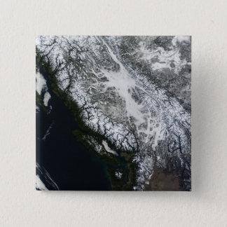 ブリティッシュ・コロンビアの霧そして雪 5.1CM 正方形バッジ