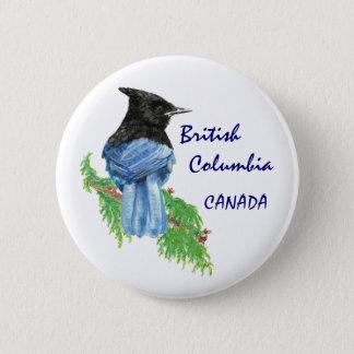 ブリティッシュ・コロンビアカナダの水彩画星のジェイ 5.7CM 丸型バッジ