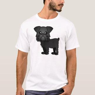 ブリュッセルかわいく黒いGriffonの漫画 Tシャツ