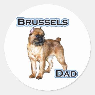 ブリュッセルのパパ4 -ステッカー ラウンドシール