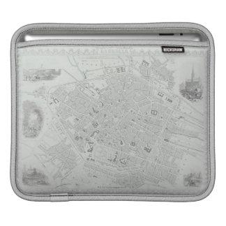 ブリュッセルのヴィンテージの地図 iPadスリーブ