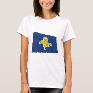 ブリュッセルの振る旗の地域 Tシャツ