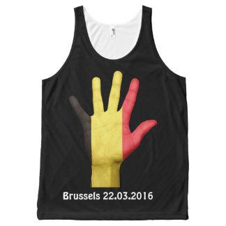 ブリュッセルの攻撃のユニセックスなタンクトップ オールオーバープリントタンクトップ