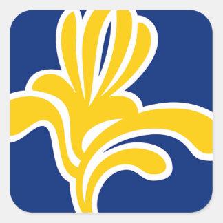 ブリュッセル(ベルギー)の旗 スクエアシール