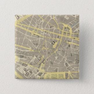 ブリュッセル 5.1CM 正方形バッジ