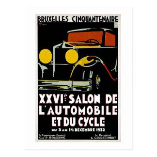 ブリュッセルCinquantenaire XXVI Salon de L' Autos ポストカード