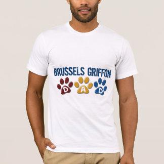 ブリュッセルGRIFFONのパパの足のプリント1 Tシャツ