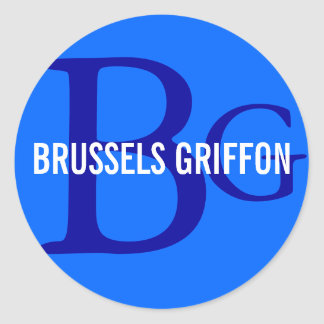 ブリュッセルGriffonの品種モノグラム ラウンドシール