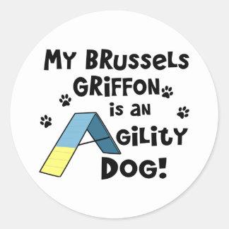 ブリュッセルGriffonの敏捷犬 ラウンドシール