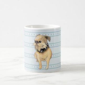 ブリュッセルGriffonの着席の水彩画 コーヒーマグカップ