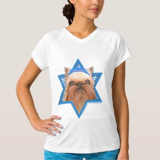 -ブリュッセルGriffonハヌカーのダビデの星 Tシャツ