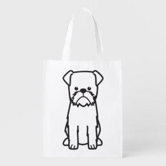 ブリュッセルGriffon犬の品種漫画 エコバッグ