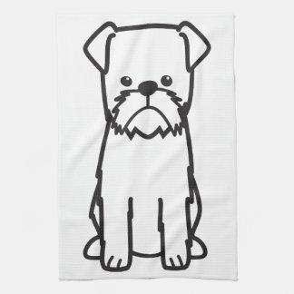 ブリュッセルGriffon犬の品種漫画 キッチンタオル