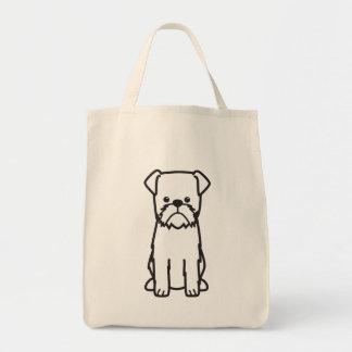 ブリュッセルGriffon犬の品種漫画 トートバッグ