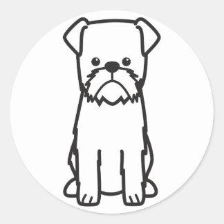 ブリュッセルGriffon犬の漫画 ラウンドシール