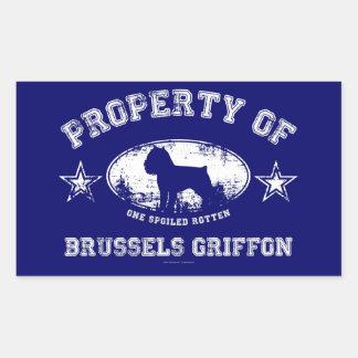 ブリュッセルGriffon 長方形シール