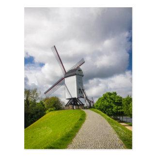 ブリュッヘの風車の郵便はがき ポストカード