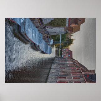 ブリュッヘベルギー旅行観光事業の観光客の休暇 ポスター