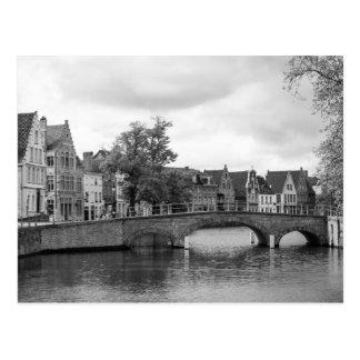 ブリュッヘ中世橋郵便はがき ポストカード