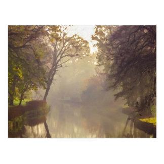 ブリュージュの川の絵画 ポストカード