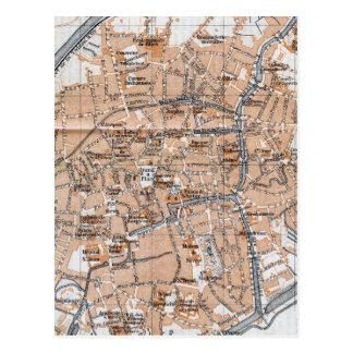 ブリュージュ(1905年)のヴィンテージの地図 ポストカード