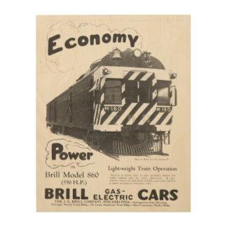 ブリルの軽量の旅客列車1932年 ウッドウォールアート