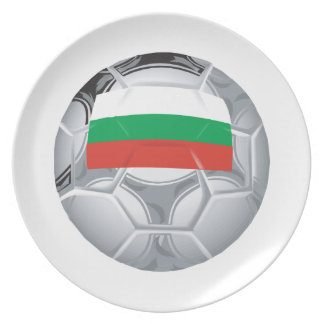 ブルガリアのサッカーボール プレート