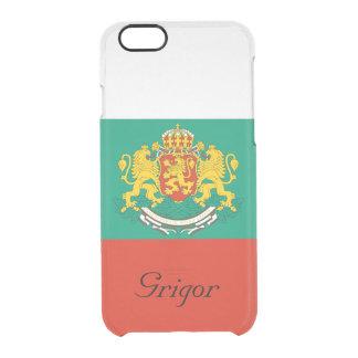ブルガリアの三色の白い緑の赤のカスタムな旗 クリアiPhone 6/6Sケース