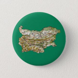 ブルガリアの地図ボタン 5.7CM 丸型バッジ