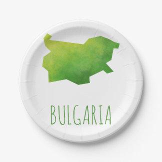 ブルガリアの地図 ペーパープレート