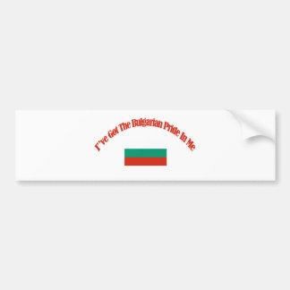 ブルガリアの愛国心が強い旗のデザイン バンパーステッカー