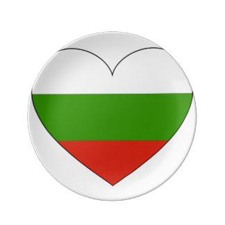 ブルガリアの旗のシンプル 磁器プレート