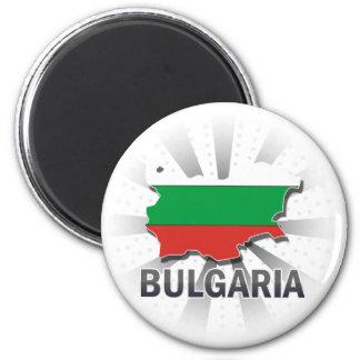 ブルガリアの旗の地図2.0 マグネット