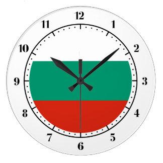 ブルガリアの旗の時計 ラージ壁時計